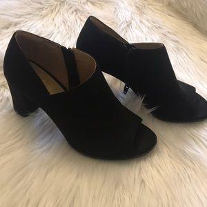 Naturalizer Open Toe Block Heels, Booties